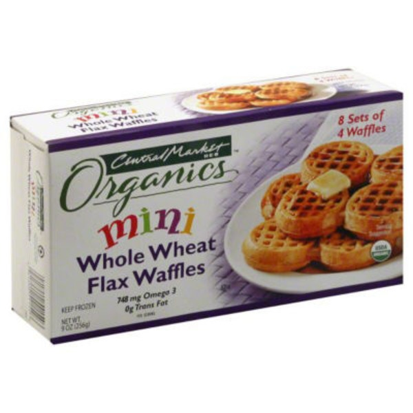 Central Market Organic Mini Whole Wheat Flax Waffles
