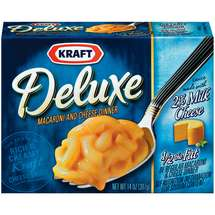 Kraft Dinners: Deluxe w/Original Cheddar Cheese Sauce 2% Milk Macaroni & Cheese Dinner