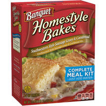 Banquet Homestyle Bakes Southwestern Style Sausage Gravy & Cornbread Complete Meal Kit