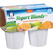 Gerber Sweet Potato Pear Yogurt Blends Snack