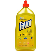 Favor 3-in-1 Citrus Scent Squirt & Mop Floor Cleaner