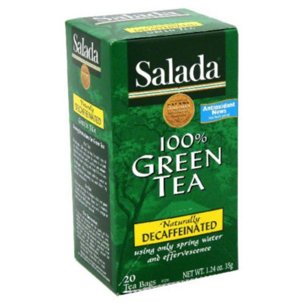 Salada Decaffeinated Pure Green Tea Tea Bags