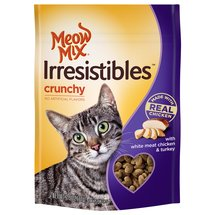Meow Mix Irresistibles Cat Treats Crunchy with White Meat Chicken & Turkey