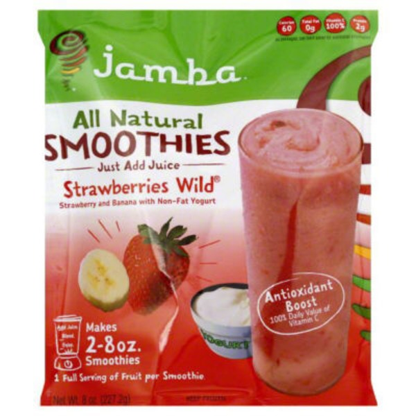 Jamba All Natural Smoothies Strawberries Wild