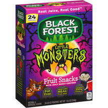 Black Forest Little Monsters Fruit Snacks with Juicy Burst Centers