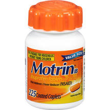 Motrin IB Ibuprofen Pain Reliever/Fever Reducer Coated Caplets