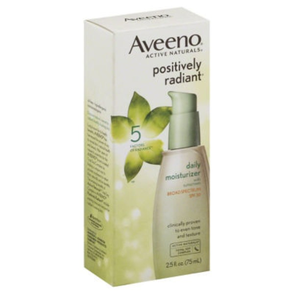 Aveeno® Positively Radiant® Daily Moisturizer SPF 30 Facial Moisturizers