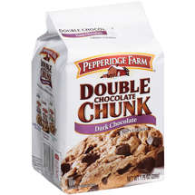 Pepperidge Farm Double Chocolate Chunk Dark Chocolate Cookies