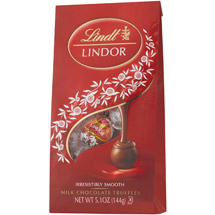 Lindt Milk Chocolate Lindor Truffles With A Smooth Filling