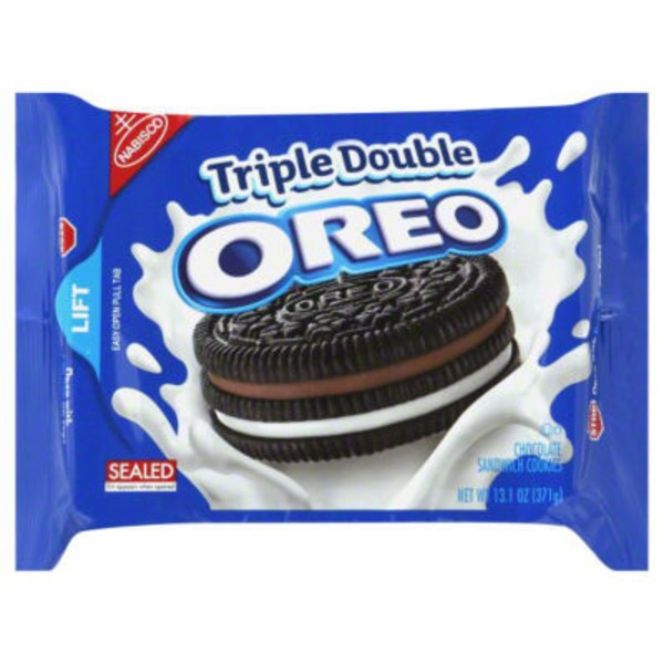 Nabisco Oreo Triple Double Chocolate Sandwich Cookies