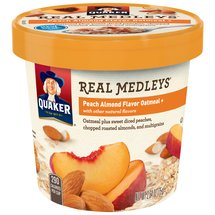 Quaker Real Medleys Peach Almond Flavor Oatmeal