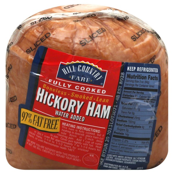 Hill Country Fare Sliced Boneless Smoked Lean Hickory Ham, Fully Cooked