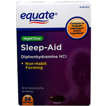 Equate Alcohol Free Night Time Sleep Aid Softgels