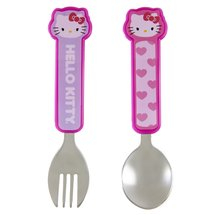 Munchkin Hello Kitty Toddler Fork and Spoon