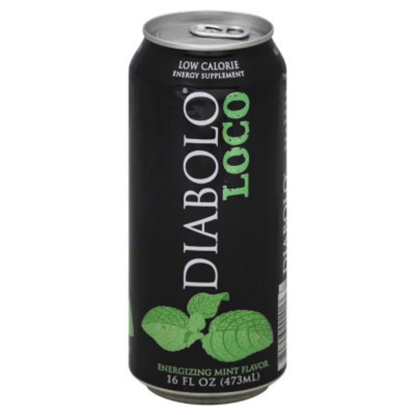 Diabolo Loco Low Calories Energy Supplement Mint Flavor