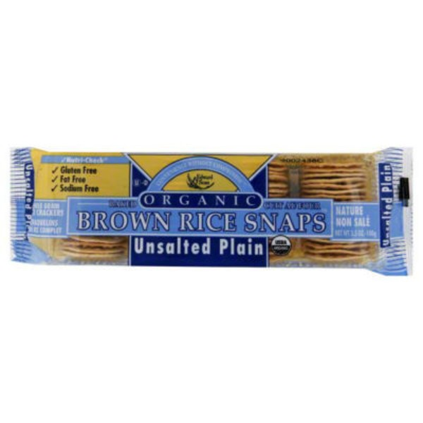 Edward & Sons Edward & Sons Brown Rice Snaps Organic Unsalted Plain