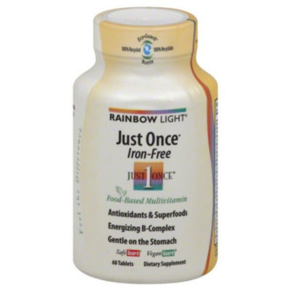 Rainbow Light Just Once Iron Free Food Based Multivitamin