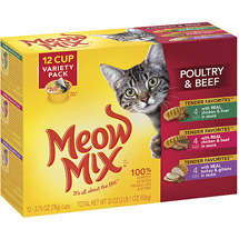 Meow Mix Market Select Beef & Poultry Wet Cat Food Variety Pack