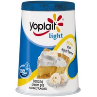 Yoplait Light Banana Cream Pie Fat Free Yogurt