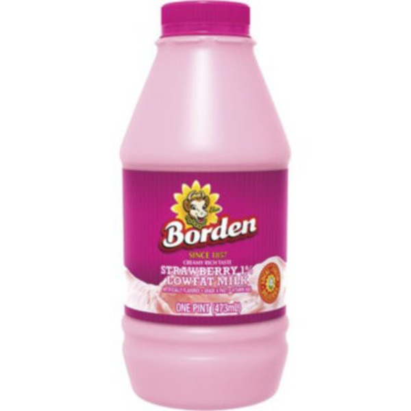 Borden Strawberry 1% Low Fat Milk