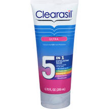 Clearasil Ultra 5-in-1 Exfoliating Acne Medication Wash