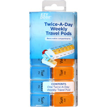 EZY DOSE Twice-A-Day Weekly Travel Pods