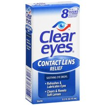 Clear Eyes Contact Lens Relief Eye Drops