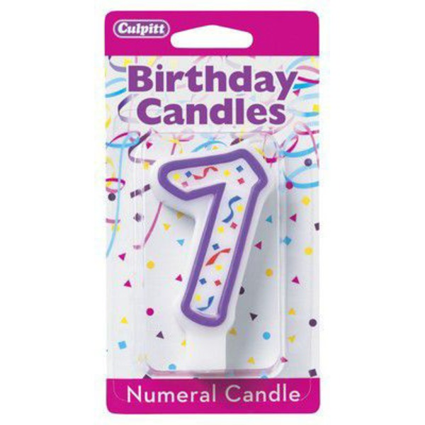 Culpitt Candles Numeral Candle 7 Purple