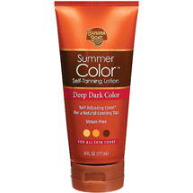 Banana Boat Summer Color Deep Dark Self Tanning Lotion