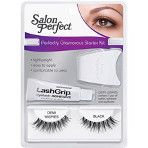 Salon Perfect Perfectly Eyelashes Starter Kit Demi Wispies Black