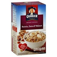 Quaker Oatmeal Raisin, Date & Walnut Instant Oatmeal