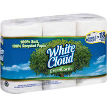 White Cloud Green Earth Triple Roll Bath Tissue