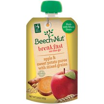 Beech-Nut Apple & Sweet Potato Puree with Mixed Grains Homestyle Fruit Blend with Whole Grain
