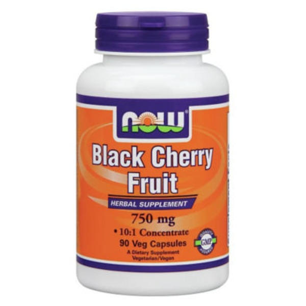 NOW Black Cherry Fruit Herbal Supplement 750 mg