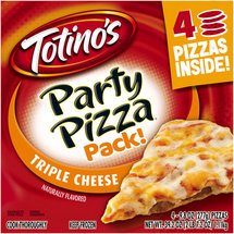 Totino's Triple Cheese Party Pizza Pack!