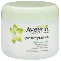 Aveeno(R) Positively Radiant(R) Daily Cleansing Pads Jar Cleansers