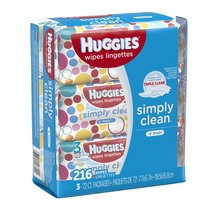 HUGGIES Simply Clean Baby Wipes (Pack of 3)