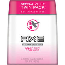 AXE Anarchy For Her Body Spray for Women Twin Pack