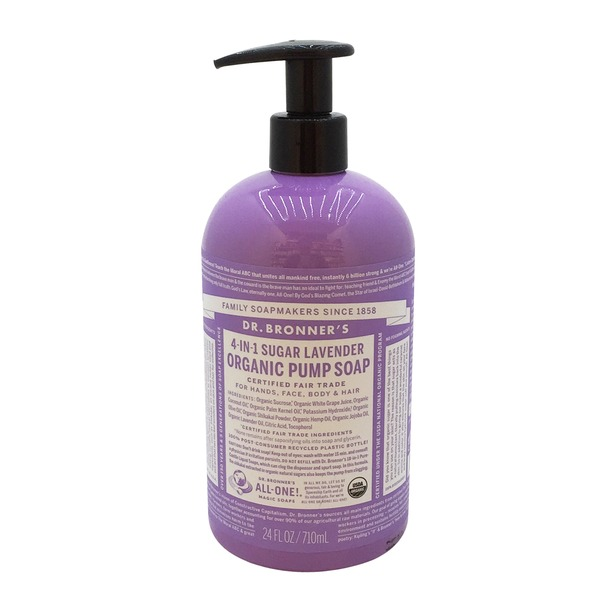 Dr. Bronner's Magic Organic Fair Trade Shikakai Body Soap Lavender