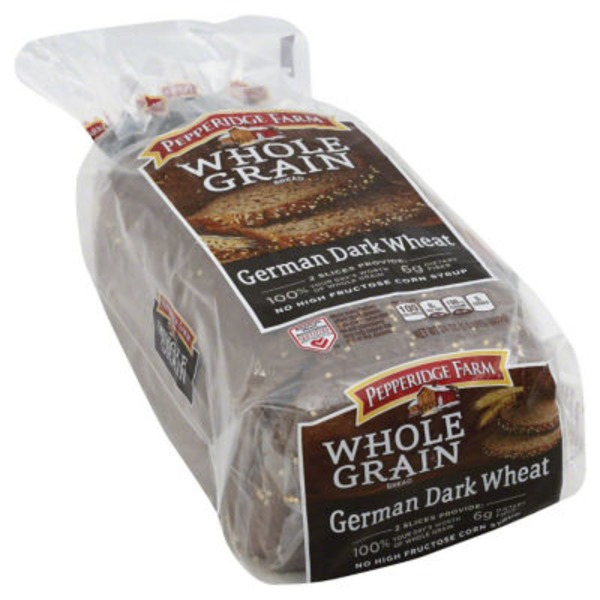 Pepperidge Farm Fresh Bakery Whole Grain German Dark Wheat Bread