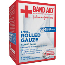 Band-Aid Sterile Rolled Gauze Small