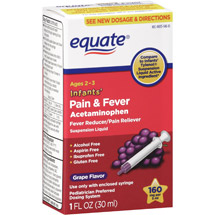 Equate Infants' Grape-Flavor Fever Reducer/Pain Reliever