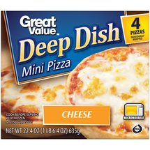 Great Value Deep Dish Cheese Mini Pizzas