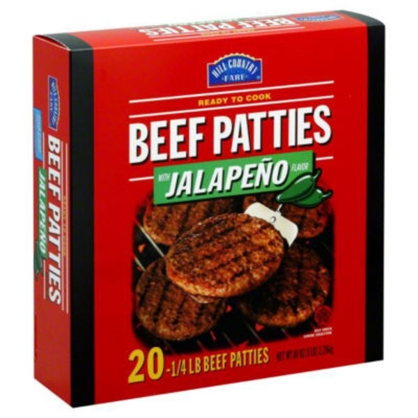 Hill Country Fare Beef With Jalapeno Flavor Patties