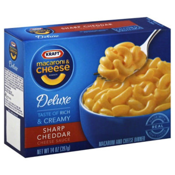 Kraft Dinners Deluxe Sharp Cheddar Macaroni & Cheese Dinner