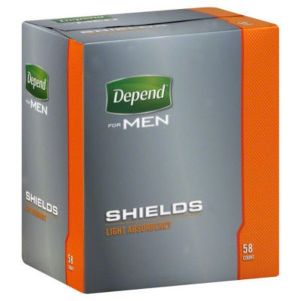 Depend Light Absorbency for Men Shields