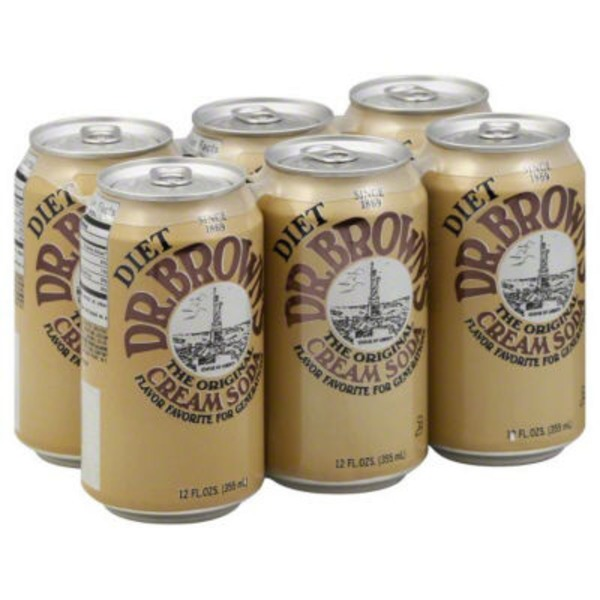 Diet Dr. Brown's The Original Cream Soda - 6 PK