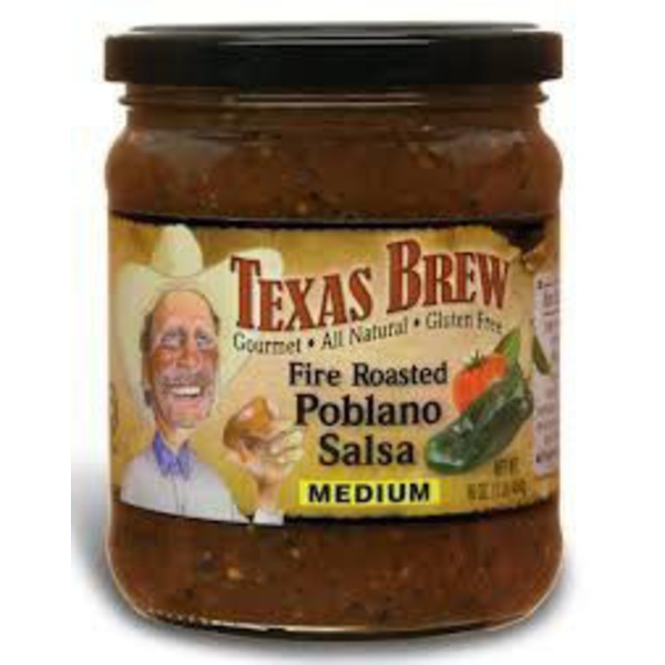 Texas Brew Medium Fire Roasted Poblano Salsa