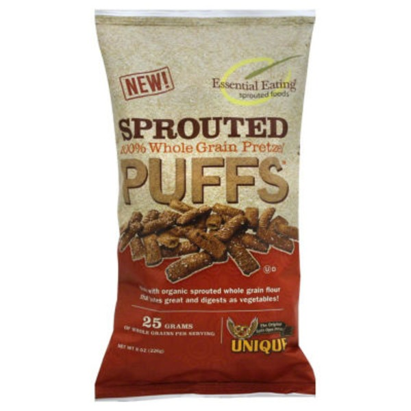 Unique Sprouted 100% Whole Grain Wheat Pretzel Shells