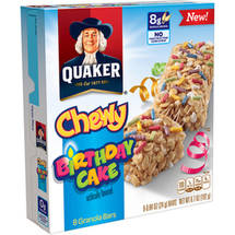 Quaker Chewy Birthday Cake Granola Bars
